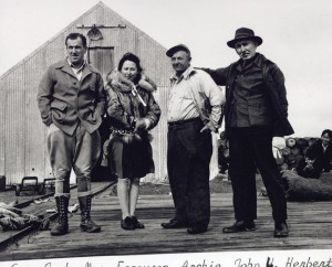 ARchie, second from right, and his wife, Minnie, second from left. Photo courtesy of Edith Bullock from the Burleigh Putnam Collection