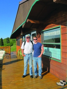 Zac and Mike at Caribou Lodge.