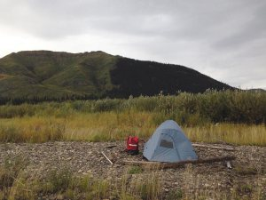 One of many campsites while on Expedition Alaska.