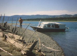 Lake Laberge, remains of the steamboat, Casca.