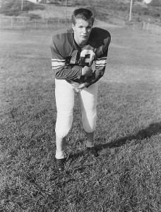 Gil in his football uniform in Port Townsend.