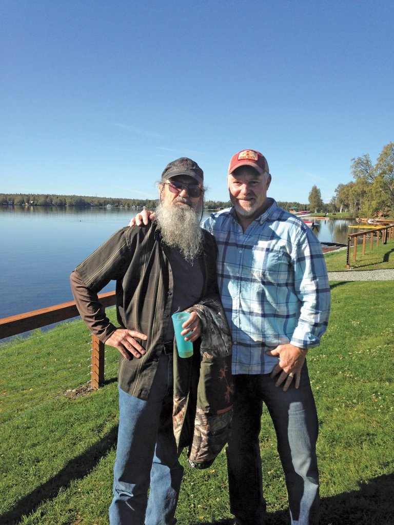 Uncle Si and Chuck at Lake Lucille. Photo by Linda Menard