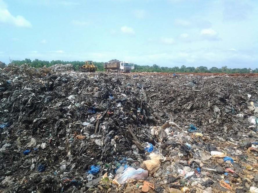 A large garbage dump in Benin, Cotonou.