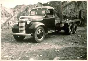 Emil's first truck, c. 1940