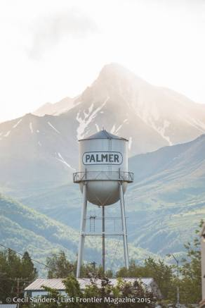 Byers Peak and the Palmer watertower on a cloudy morning. Photo credit: Cecil Sanders Photography