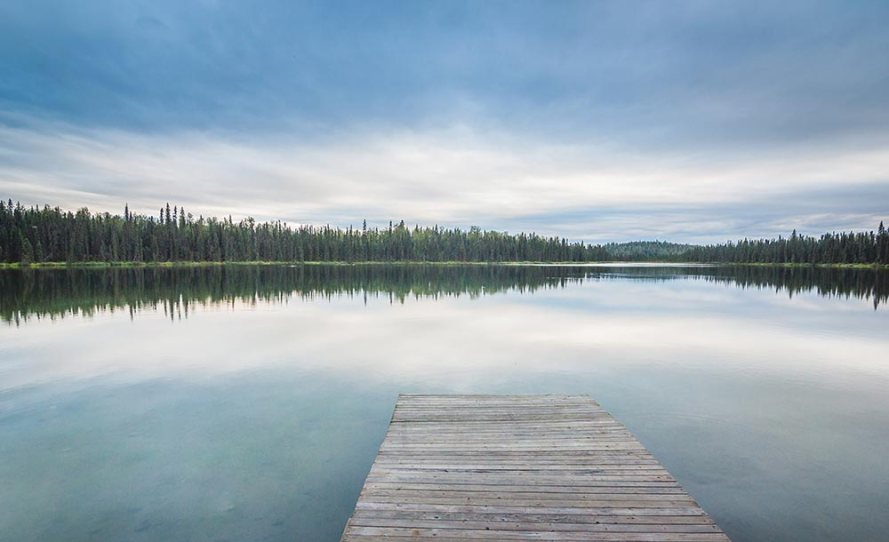 View of Freeman Lake from Yukon's homestead cabin.