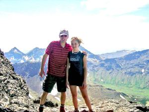 Frank and Shelley hiking in the Chugach.