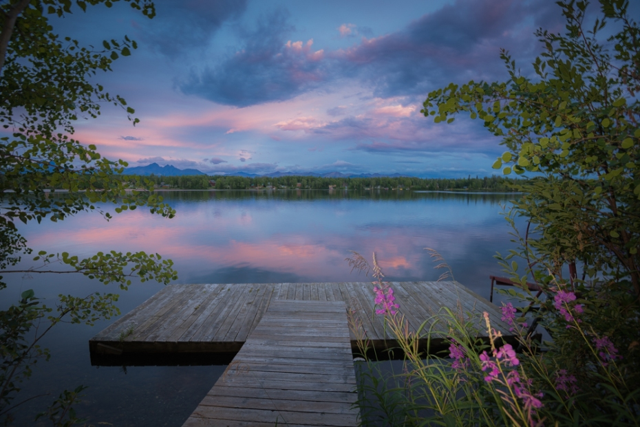 A peaceful evening in Wasilla at Lake Lucille! Photo credit: Cecil Sanders / www.cecilsandersphotography.com
