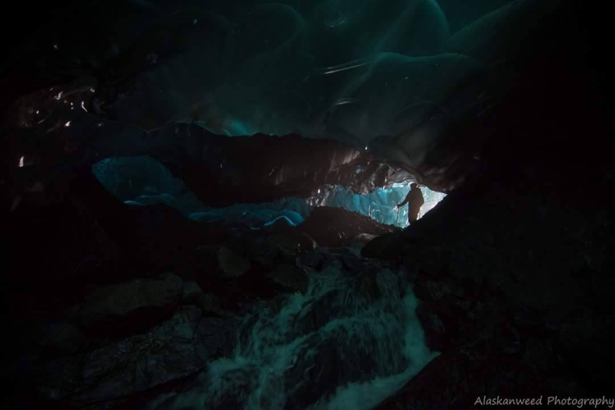 Entering the ice cave