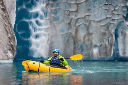 Kayaking near the glacier