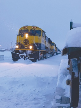 The Alaska Railroad stopped in Wasilla on the way to Talkeetna.